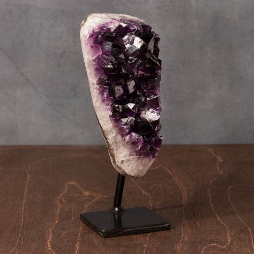 Amethyst Geode w/Stand, Unique - Thumbnail