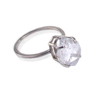 Herkimer Diamond Solitaire Ring