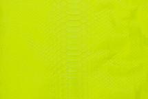 Python Skin Burmese Back Cut Neon Yellow