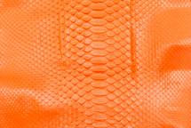 Python Skin Diamond Back Cut Neon Orange