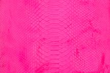 Python Skin Burmese Back Cut Neon Pink
