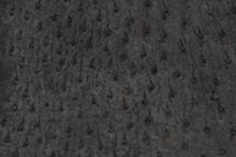 Ostrich Skin Peluche Black