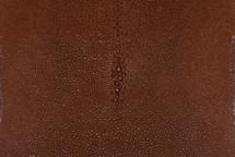"Stingray Skin Long Shape Shagreen Tan 4"""