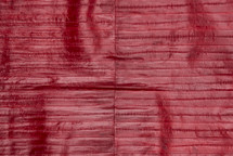 Eel Skin Panel Glazed Red