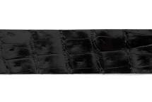 Belt Strip Crocodile Tail Glazed Black