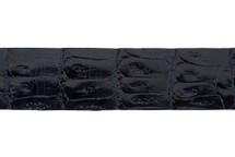 Belt Strip Crocodile Tail Glazed Navy