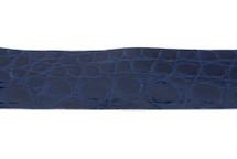 Belt Strip Crocodile Flank Glazed Bluette