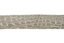 Belt Strip Crocodile Flank Glazed Ivory