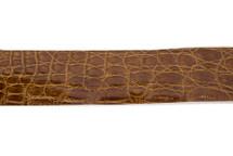 Belt Strip Crocodile Flank Glazed Tobacco