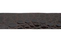 Belt Strip Crocodile Flank Glazed Chocolate