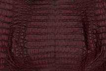 Caiman Skin Belly Matte Burgundy