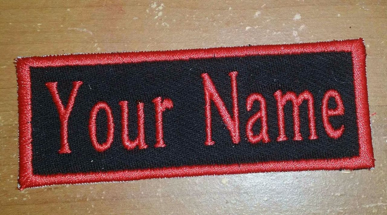 Custom Embroidery Name Title Tag Biker Embroidered Patches Club MC