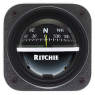 Ritchie V-537 Explorer Compass - Bulkhead Mount - Black Dial