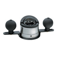 Ritchie B-200P Navigator Steel Boat Compass - Binnacle Mount - Stainless Steel\/Black