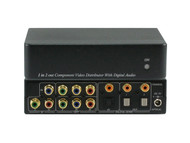 1x2 1:2 Component Video Dig. Audio Splitter Distribution Amplifier ANI-1X2COMPDA