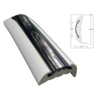 TACO Semi-Rigid Rub Rail Kit - White w\/Flex Chrome Insert - 70'