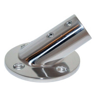 "Whitecap "" O.D. 30 Degree Round Base SS Rail Fitting"