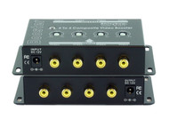 4x4 (4:4) Composite RCA Video Booster Extender Distribution Amplifier SB-2812