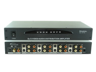 1x8 1:8 S-Video Analog Audio Splitter Distribution Amplifier +Rack Mount SB-3709