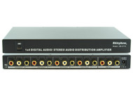 1x4 Composite Video Digital Analog Audio Splitter Distribution Amplifier SB-3710