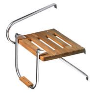 Whitecap Teak Swim Platform w\/Ladder f\/Outboard Motors