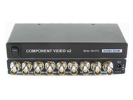 1x2 (1:2) 2-Way Component BNC Video Splitter Distribution Amplifier SB-3776BNC