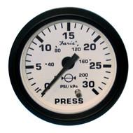 "Faria Euro White 2"" Water Pressure Gauge Kit - 30 PSI"