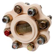 "R & D Flexible Shaft Coupling f\/5"" B\/W, Hurth - 13HP\/100RPM Capacity"