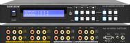 4x4 (4:4) Composite RCA Audio Video Matrix Switcher with Mount/EDID Management