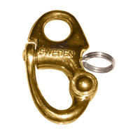 """Ronstan Brass Snap Shackle - Fixed Bail - 59.3mm(2-5\/16"""") Length"""