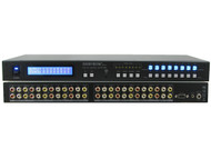8x8 (8:8) Composite RCA Audio Video Matrix Switcher with Mount/EDID Management