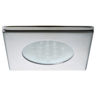 Quick Bryan C Downlight LED -  2W, IP66, Spring Mounted w\/ Touch Switch - Square Stainless Bezel, Round Warm White Light