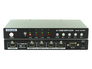 4x1 (4:1) Port HDMI 3D HDTV Switch Switcher Selector with RS-232/Remote SB-5604