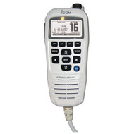 Icom COMMANDMICIV w\/White BlackLit LCD - Super White