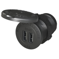 "Blue Sea 1045 12\/24V Dual USB Charger - 1-1\/8"" Socket Mount"