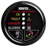Xintex Gasoline Fume Detector & Blower Control w\/Plastic Sensor - Black Bezel Display