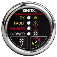 Xintex Gasoline Fume Detector & Blower Control w\/Plastic Sensor - Chrome Bezel Display