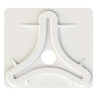 KING Jack\/Omni Antenna Mounting Plate - White
