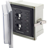 Blue Sea 3117 SMS Surface Mount System Panel Enclosure - 2 x 120V AC \/ 30A ELCI Main