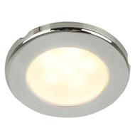 "Hella Marine EuroLED 75 3"" Round Screw Mount Down Light - Warm White LED - Stainless Steel Rim - 24V"