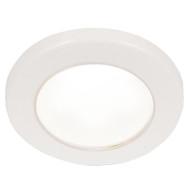 """Hella Marine EuroLED 75 3"""" Round Screw Mount Down Light - White LED - White Plastic Rim - 12V"""