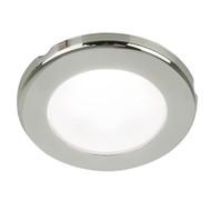 "Hella Marine EuroLED 75 3"" Round Screw Mount Down Light - White LED - Stainless Steel Rim - 12V"