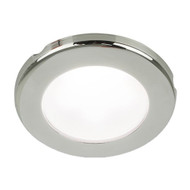 "Hella Marine EuroLED 75 3"" Round Screw Mount Down Light - White LED - Stainless Steel Rim - 24V"