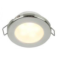 "Hella Marine EuroLED 75 3"" Round Spring Mount Down Light - Warm White LED - Stainless Steel Rim - 12V"