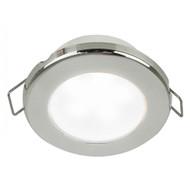"""Hella Marine EuroLED 75 3"""" Round Spring Mount Down Light - White LED - Stainless Steel Rim - 24V"""