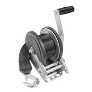 Fulton 1500lb Single Speed Winch w\/20 Strap  Cover