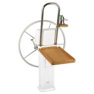 Edson Teak Fold Down Luncheon Table - Edson Vision Series\/Console Pedestal