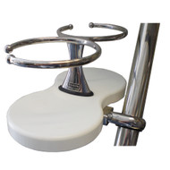 Edson Clamp-On Drink Holder - Double - White Poly