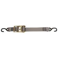 "CargoBuckle Multipurpose Ratchet Strap Tie-Down w\/S-Hooks - 2"" x 15"