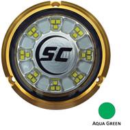 Shadow-Caster SCR-24 Bronze Underwater Light - 24 LEDs - Aqua Green